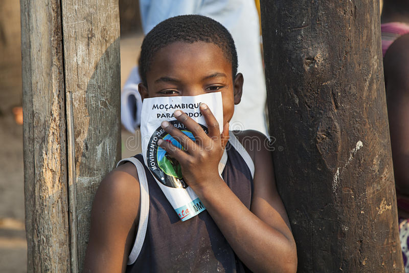 Piccolo bambino dal Mozambico del Nord fotografie stock
