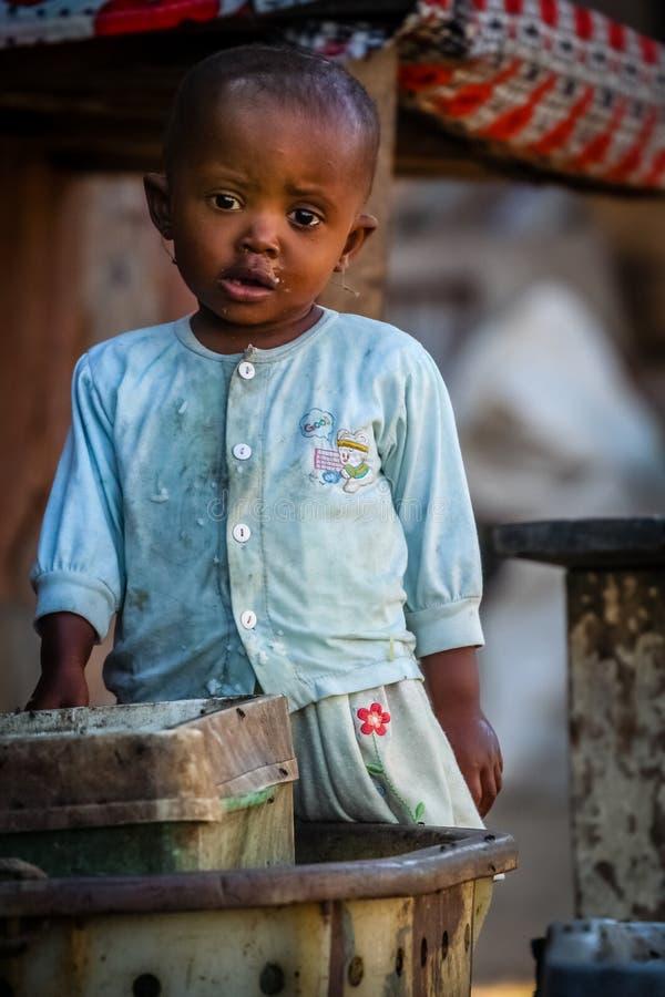 Piccolo bambino malgascio fotografie stock