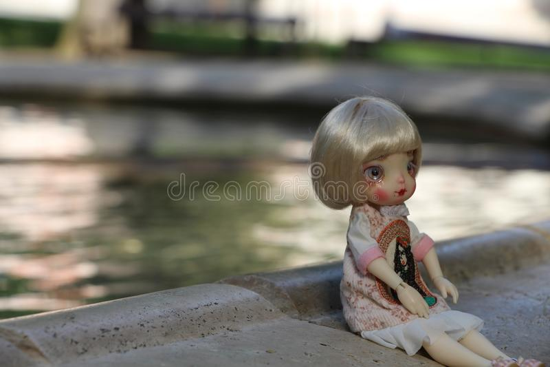 Piccolo bambole inoltre ha un cuore fotografia stock