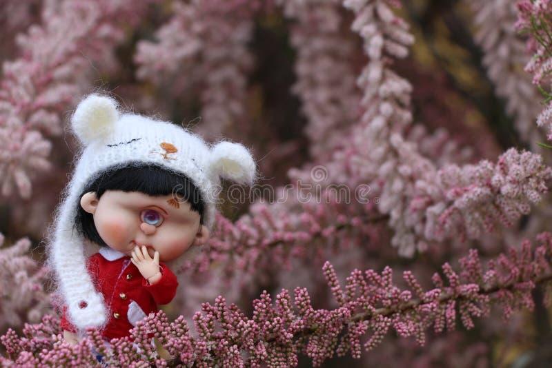 Piccolo bambole inoltre ha un cuore fotografia stock libera da diritti