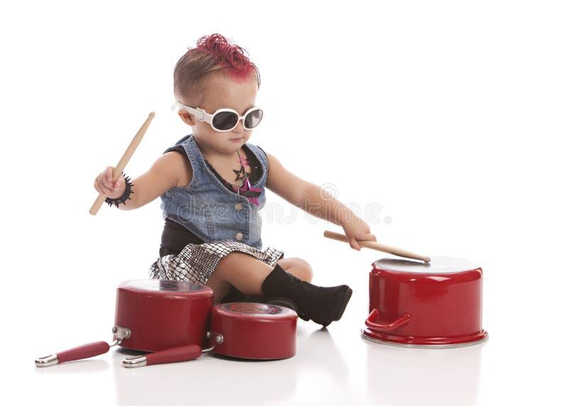 Piccolo batterista immagini stock