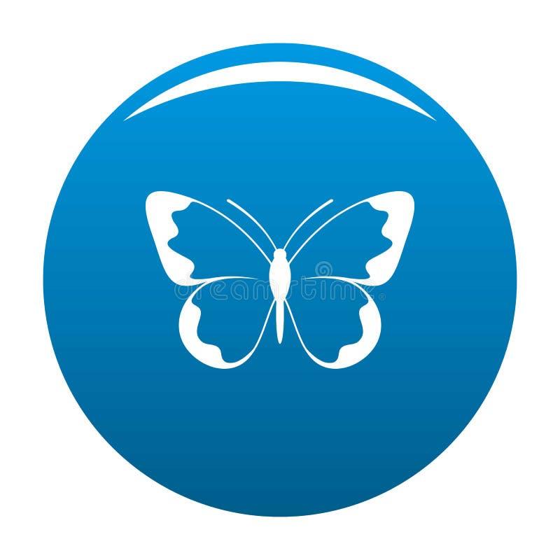 Piccolo blu dell'icona della farfalla illustrazione di stock