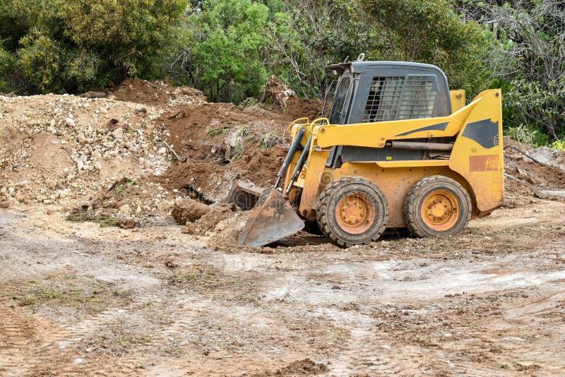 Piccolo bulldozer fotografie stock libere da diritti