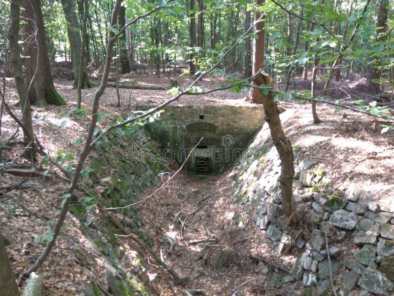 Piccolo bunker immagine stock