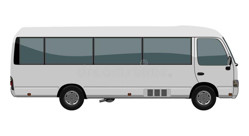 Piccolo bus bianco illustrazione di stock