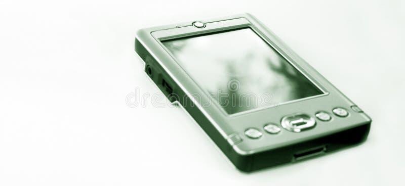 Piccolo calcolatore tenuto in mano immagini stock libere da diritti