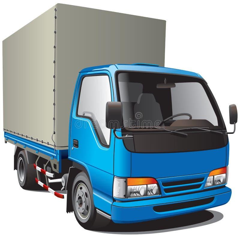 Piccolo camion blu illustrazione di stock