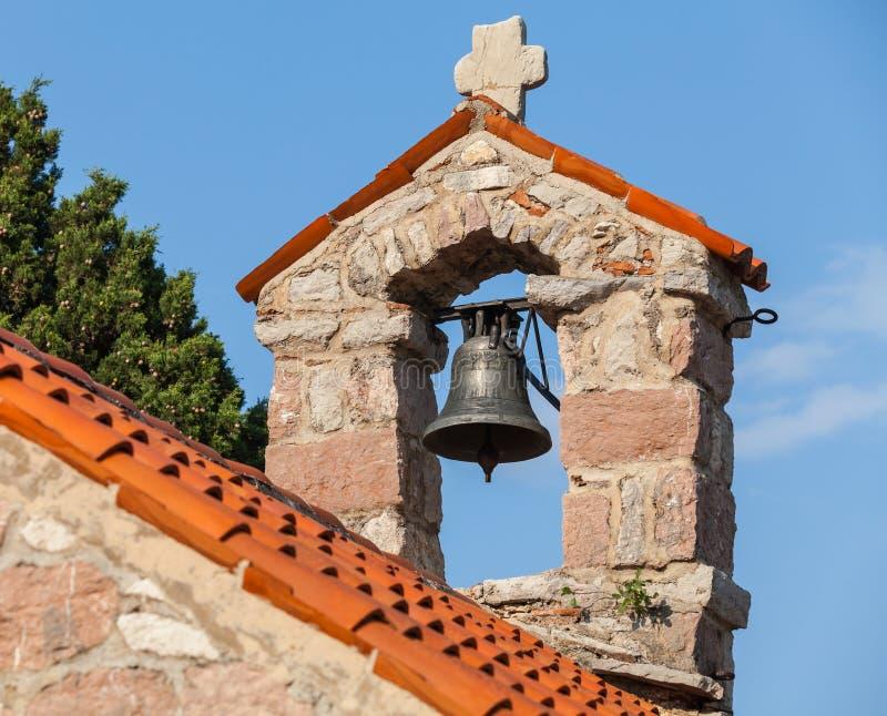 Piccolo campanile nel monastero Gradiste fotografia stock libera da diritti