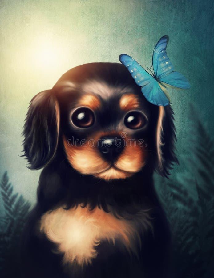 Piccolo cane di cucciolo illustrazione di stock