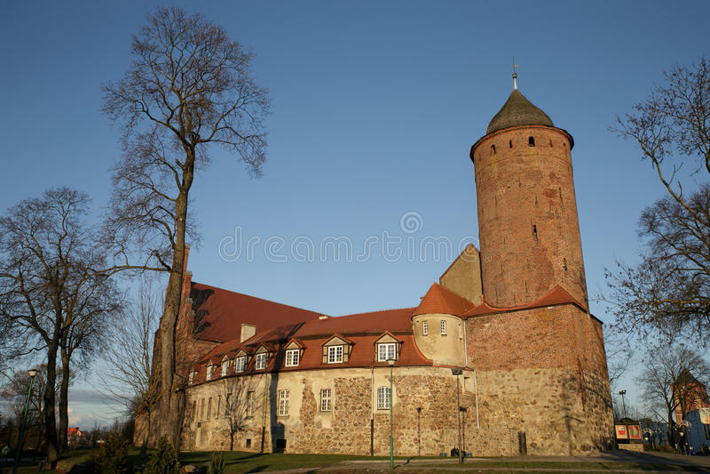 Piccolo castello in Polonia immagine stock libera da diritti
