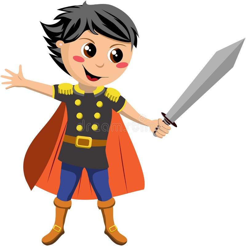 Piccolo cavaliere Fighting royalty illustrazione gratis