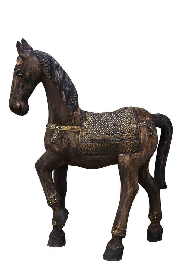Piccolo cavallo di legno variopinto immagine stock