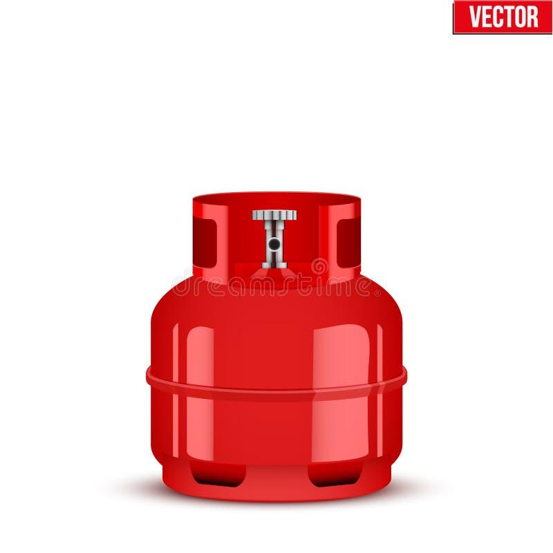 Piccolo cilindro del propano Illustrazione di vettore illustrazione vettoriale