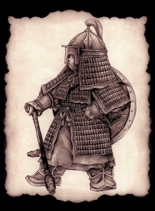 Piccolo comandante mongolo fotografie stock