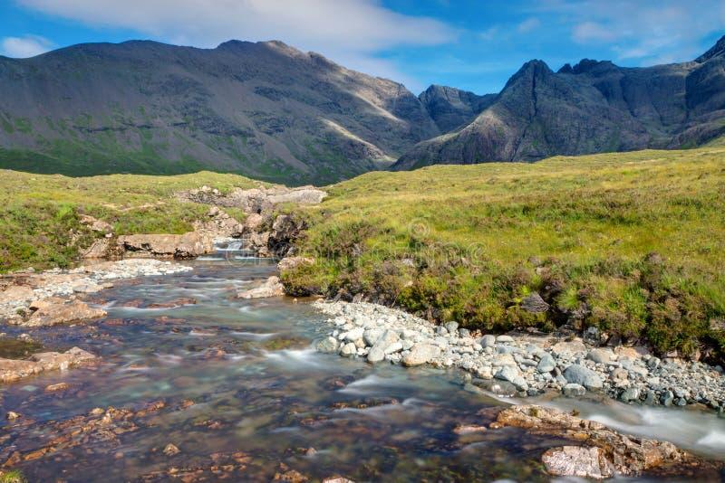 Piccolo corso d'acqua sull'isola di Skye fotografie stock libere da diritti