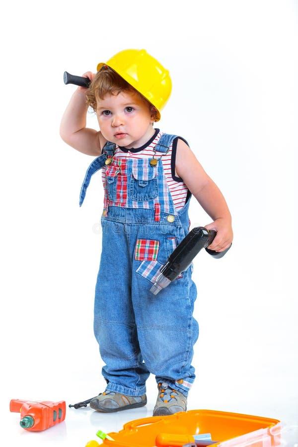 Piccolo costruttore. fotografia stock libera da diritti