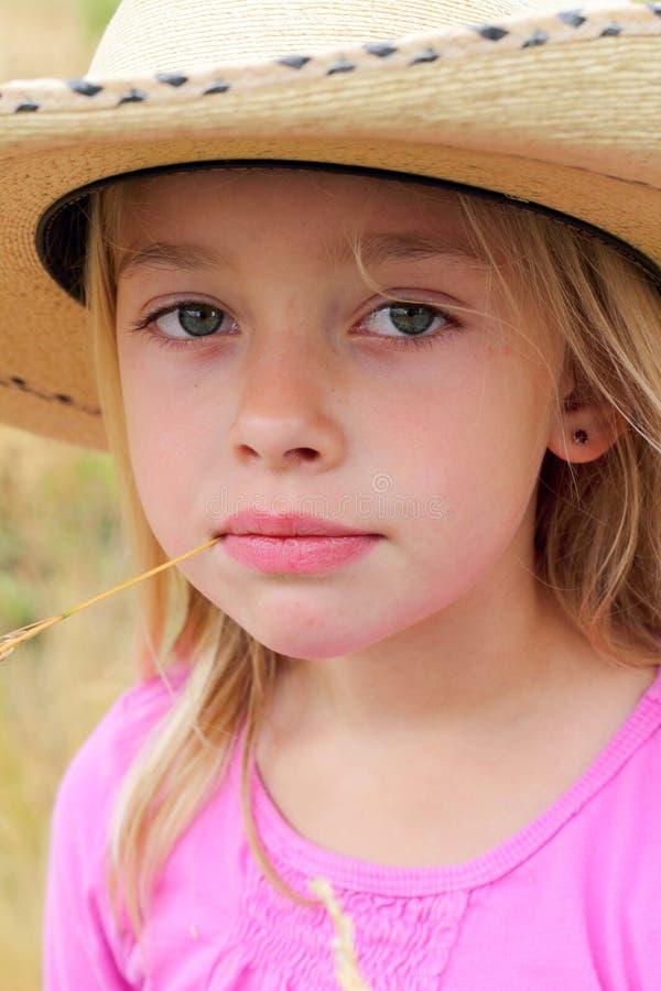 Piccolo Cowgirl fotografia stock libera da diritti