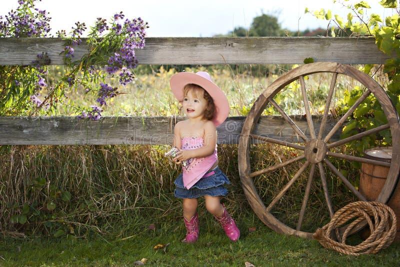 Piccolo Cowgirl immagini stock libere da diritti