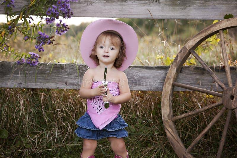 Piccolo Cowgirl immagine stock libera da diritti