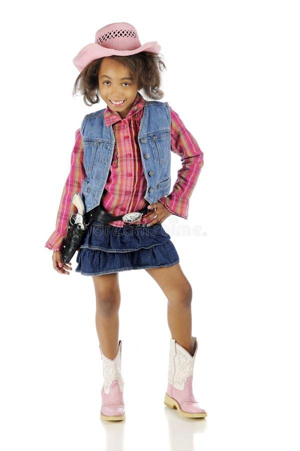 Piccolo cowgirl sfacciato fotografia stock libera da diritti