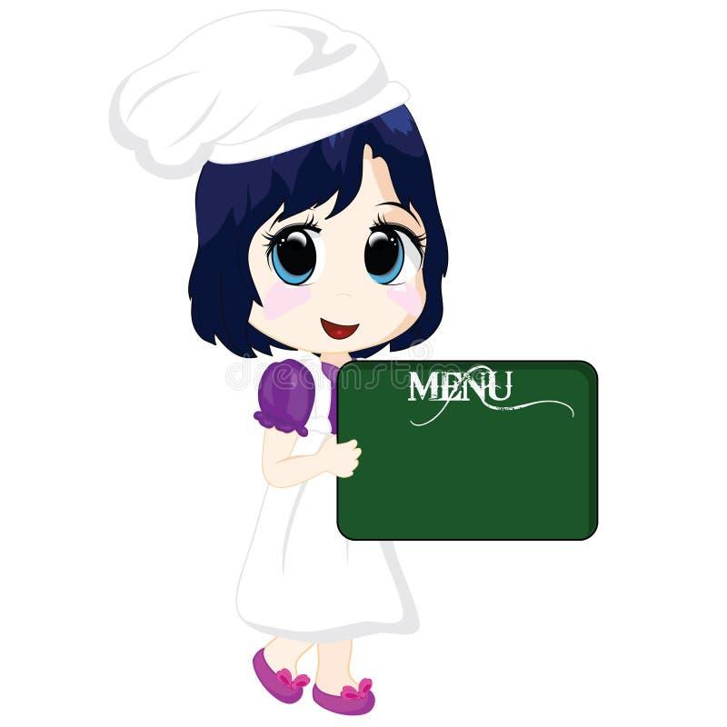 Piccolo cuoco unico illustrazione di stock