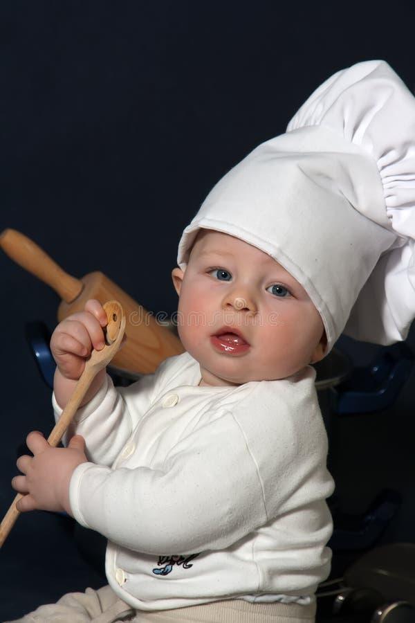 Piccolo cuoco unico immagini stock libere da diritti