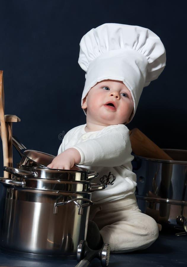 Piccolo cuoco unico fotografie stock