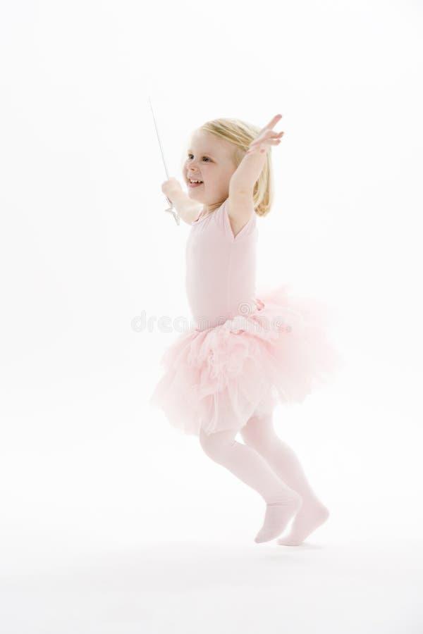 Piccolo Dancing della ballerina fotografie stock libere da diritti