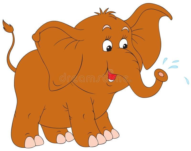 Piccolo elefante illustrazione di stock
