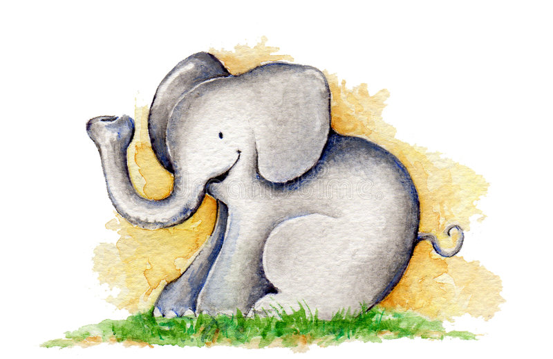 Piccolo elefante fotografia stock