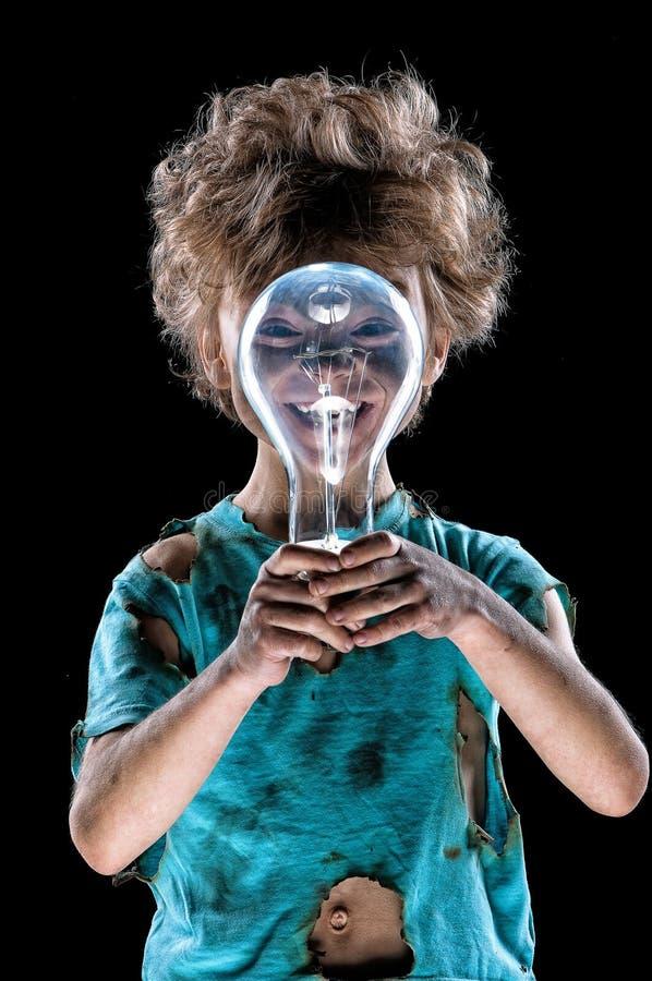 Piccolo elettricista divertente fotografia stock