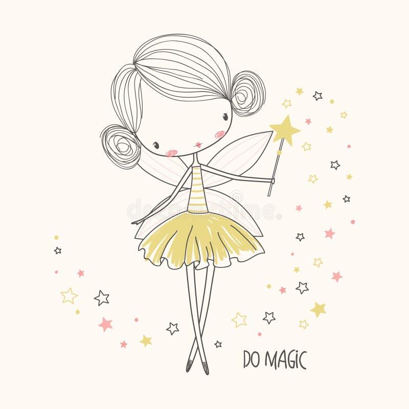Piccolo fairy sveglio Illustrazione di vettore della scuola materna royalty illustrazione gratis
