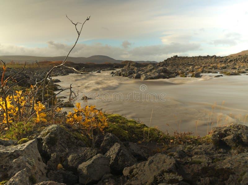 Piccolo fiume sull'Islanda fotografie stock libere da diritti