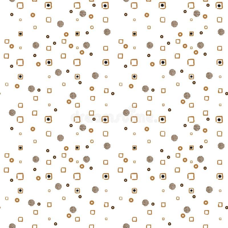 Piccolo fondo di bianco del punto sparso estratto illustrazione vettoriale