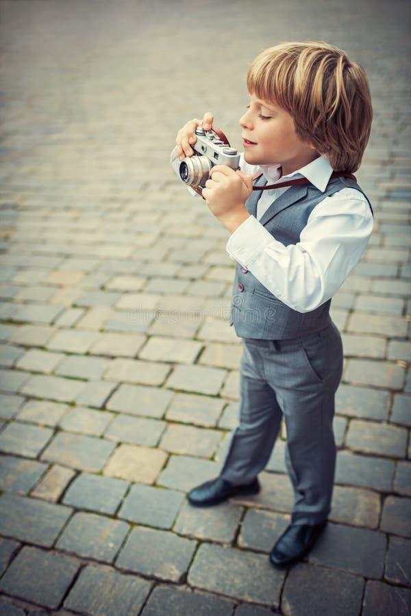 Piccolo fotografo fotografia stock