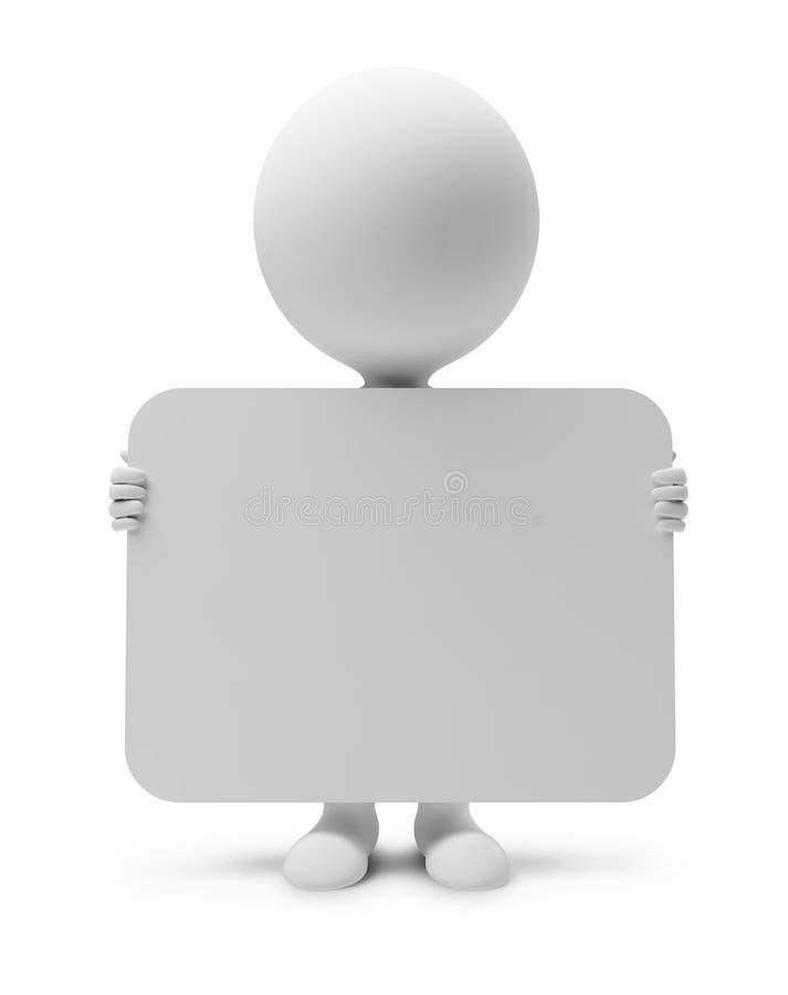piccolo gente-annuncio 3d illustrazione di stock