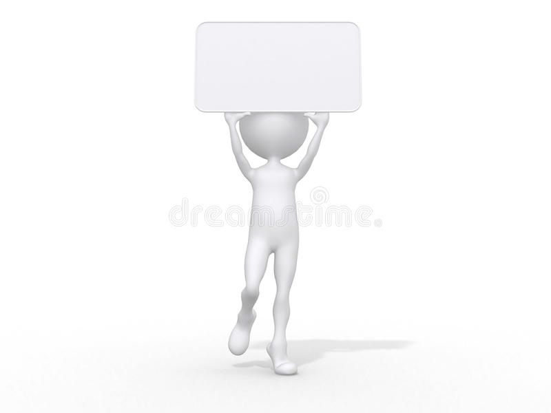 piccolo gente-annuncio 3d royalty illustrazione gratis