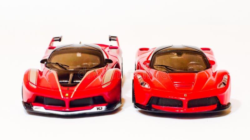 Piccolo hypercars rossi fotografia stock
