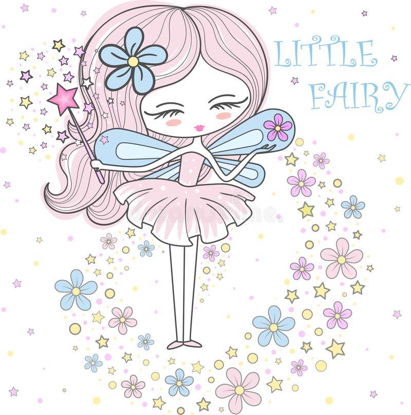 Piccolo illustrazione leggiadramente di vettore di una molla leggiadramente nei colori pastelli royalty illustrazione gratis