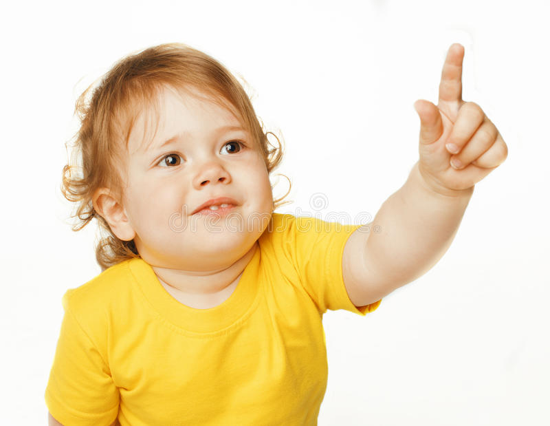 Download Piccolo Indicare Sveglio Della Neonata Isolato Su Bianco Immagine Stock - Immagine di infante, bello: 56892549