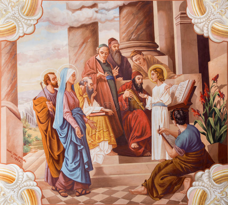 Piccolo insegnamento di Gesù immagine stock