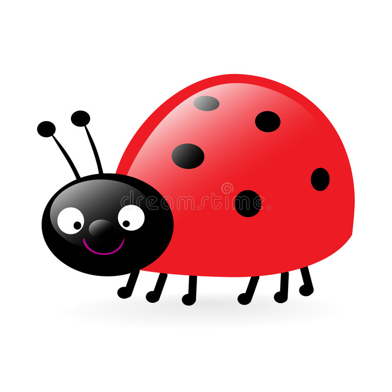 Piccolo ladybug felice illustrazione di stock
