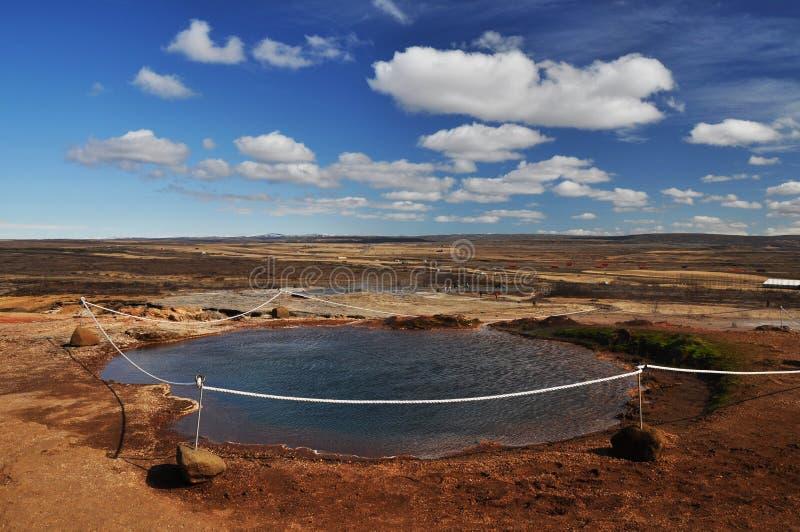 Piccolo lago geotermal fotografia stock libera da diritti
