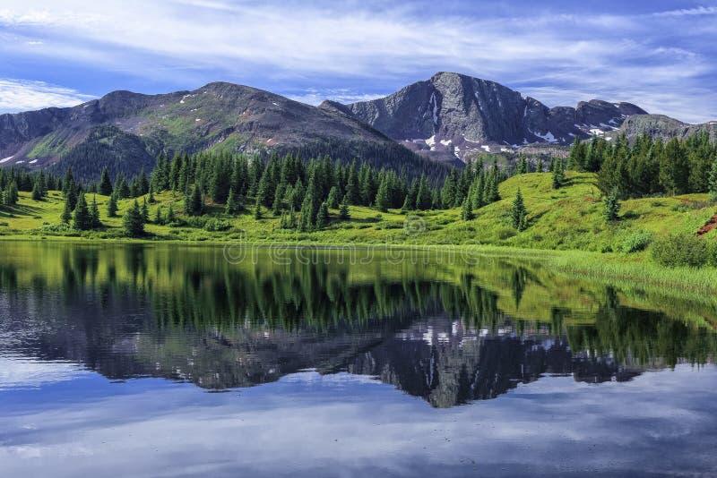 Piccolo lago molas, San Juan Mountains, Colorado immagini stock libere da diritti