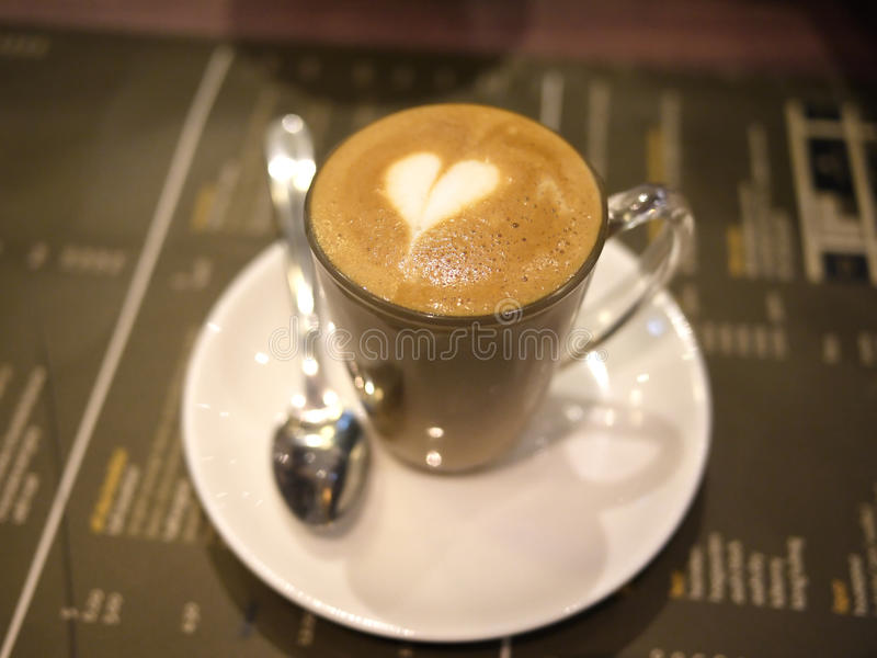 Piccolo Latte. A cup of piccolo latte stock images