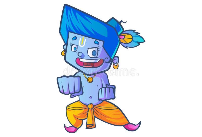 Piccolo Lord Krishna sveglio royalty illustrazione gratis