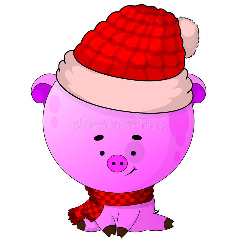 Piccolo maiale del nuovo anno L'anno del maiale immagini stock