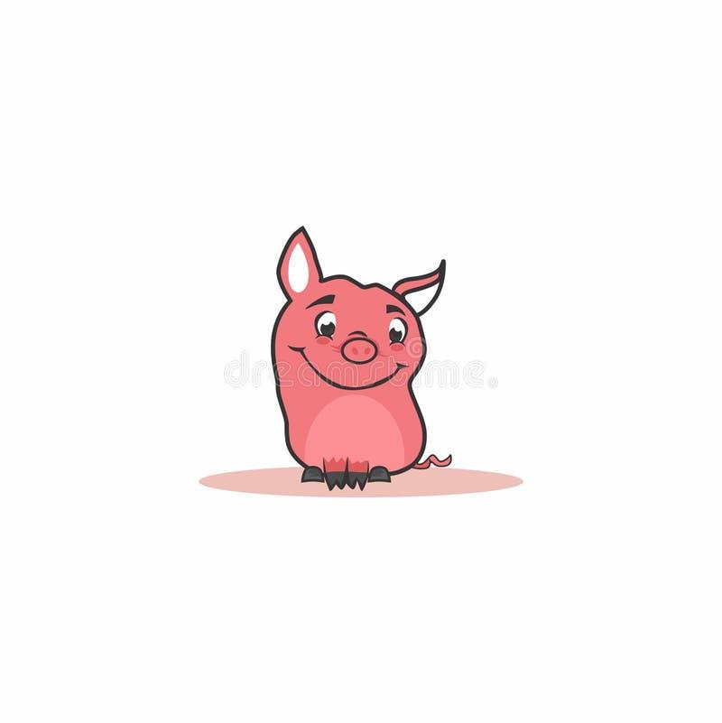 Piccolo maiale rosa illustrazione vettoriale