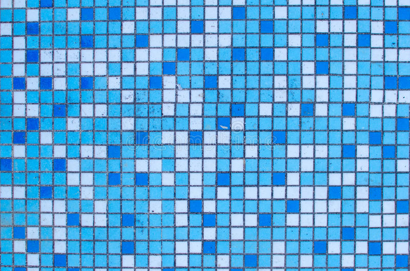 Piccolo modello blu e bianco delle mattonelle fotografie stock
