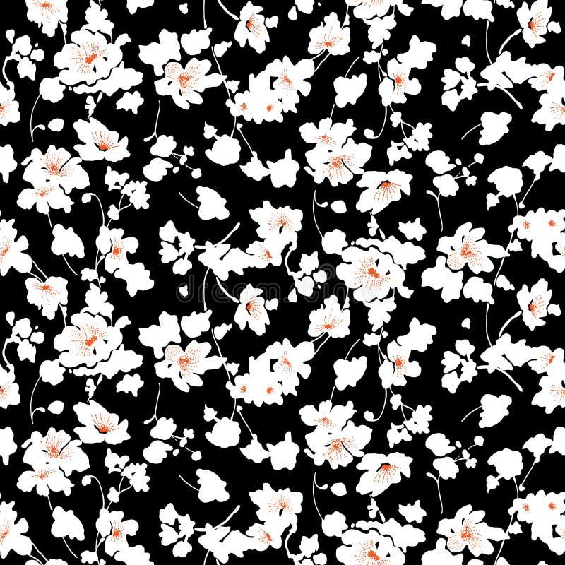Piccolo modello di fiori 008 illustrazione vettoriale